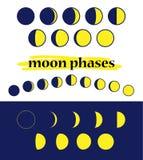 Участки луны вектора Стоковая Фотография RF