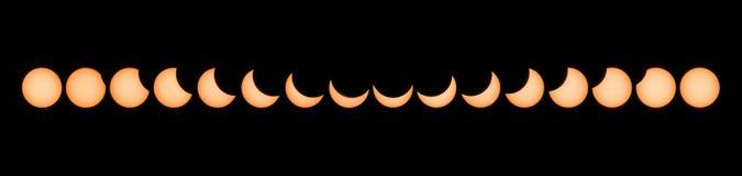 Участки частично солнечного затмения стоковые изображения rf