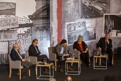 Участники, дискуссия, ` 68 в марте Стоковая Фотография