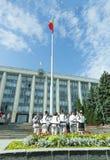 Участники концерта перед зданием правительства Стоковые Изображения