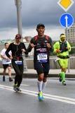 Участники марафона 6 Москва стоковые изображения rf