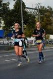Участники марафона 6 Москва стоковое изображение