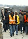 Участники марша Майкл Брайна Стоковая Фотография RF