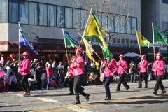 Участники марша парада стоковые фото