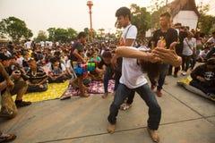 Участники мастерской церемонии дня на способном Khong Khuen Стоковое Изображение