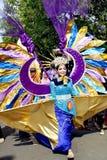 Участники парада костюма пока подготавливающ выполнить стоковая фотография rf