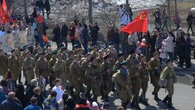 Участники события полка русского действия бессмертные в военной форме видеоматериал
