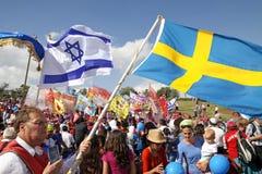 Участники шествия евангелистских христиан в Jeru Стоковое Изображение RF