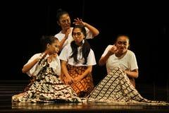 Участник дня танца мира от Surakarta Стоковое фото RF