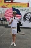 Участник парада русалки на разделе острова кролика в Бруклине Стоковые Изображения RF