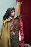Участник средневековой партии костюма стоковое фото rf