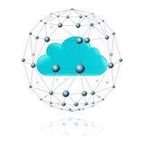 Участок связей и облако Стоковое Изображение RF