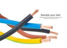 участок 3 кабеля электрический стоковые фото