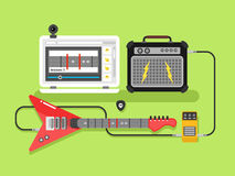 Учащ гитару онлайн иллюстрация штока