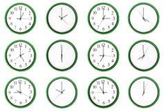 Уча время - нечетные числа, зеленые. бесплатная иллюстрация