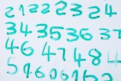 Уча номер сочинительства иллюстрация вектора