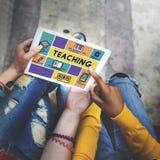 Уча учитель обучения уча концепцию образования стоковое изображение