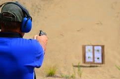 Учебная стрельба по мишеням пистолета Стоковые Изображения RF