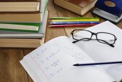 Учебник с ручкой Стоковые Фото