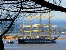 Учебное судно Kruzenshtern Стоковая Фотография RF