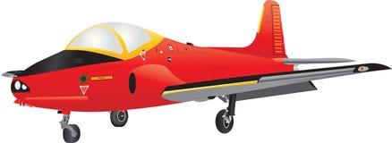 Учебный самолет двигателя иллюстрация вектора