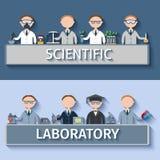 Ученые в лаборатории Стоковое Изображение