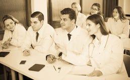 Ученые на курсах подготовки Стоковые Фото