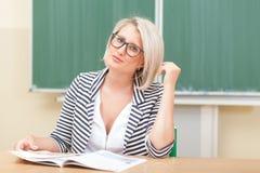 Учитель в классе Стоковое Фото