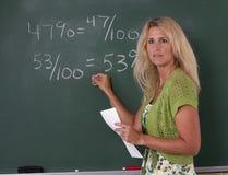 учитель математики класса Стоковая Фотография