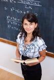 учитель математики книги самолюбивый Стоковая Фотография