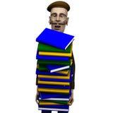 учитель пакета истории carryng книг Стоковое Фото