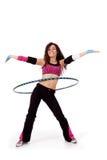 Учитель пригодности демонстрируя hooping Стоковая Фотография RF