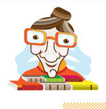 учитель стекел Иллюстрация вектора