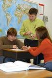 учитель студентов средней школы Стоковые Фото