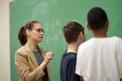 учитель студентов Стоковое фото RF