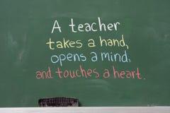 учитель фразы благодарности вдохновляющий Стоковая Фотография RF