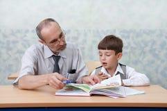 учитель школьника Стоковая Фотография RF