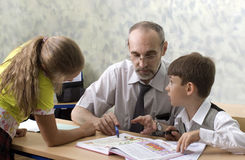 учитель школьников Стоковое фото RF