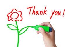учитель благодарит вас стоковые фотографии rf