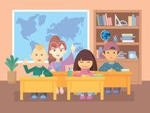 Учитель в комнате класса Стоковые Фото