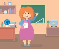 Учитель в комнате класса Стоковые Фотографии RF