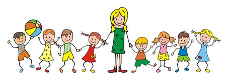 Учитель и дети Стоковые Фото