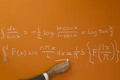 Учитель и формула расчета Стоковое фото RF