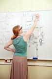 учитель классн классного пишет Стоковое Фото