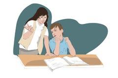 Учитель помогает студенту Бесплатная Иллюстрация