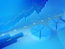 учитывая шток статистик финансов обменом Стоковые Изображения RF