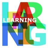 Учить - абстрактные письма цвета Стоковое фото RF