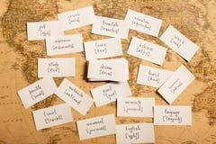 Учить английские слова сновидение стоковое фото rf