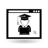 Учить графический дизайн, иллюстрация вектора Стоковые Изображения RF