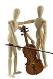 учить игру к скрипке Стоковое Фото